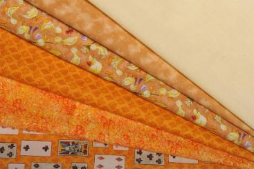 Patchwork Quilt Paket Orange / Braun