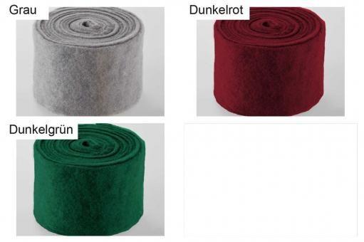 Wollfilz-Band 7,5 cm breit - uni - 5 m-Rolle